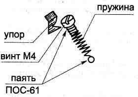 Конструкция датчика наклона головы